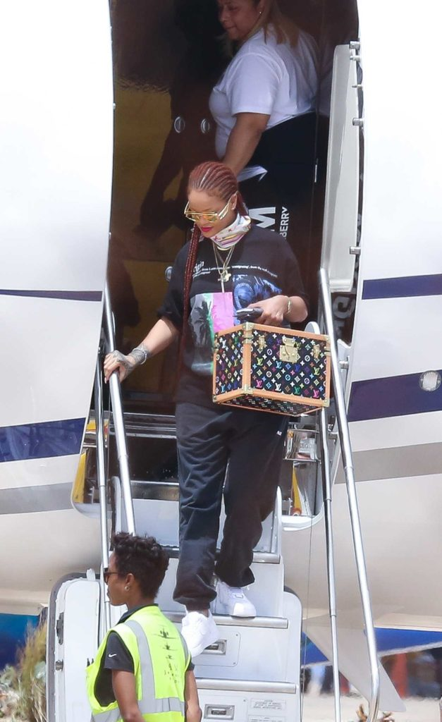 Rihanna in a White Nike Sneakers