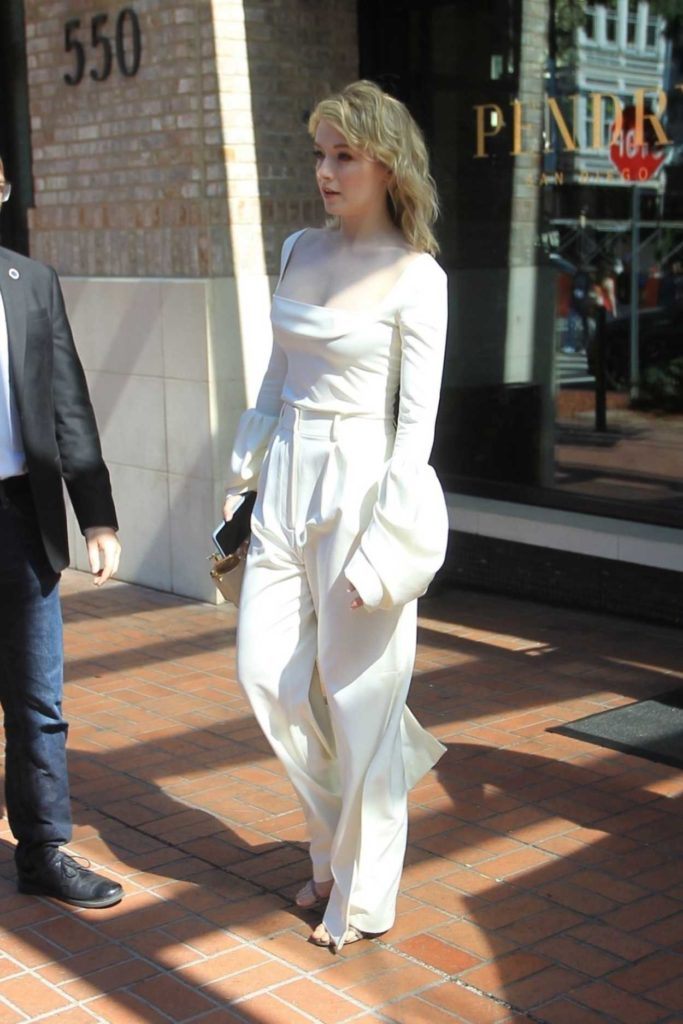Sarah Bolger in a White Suit