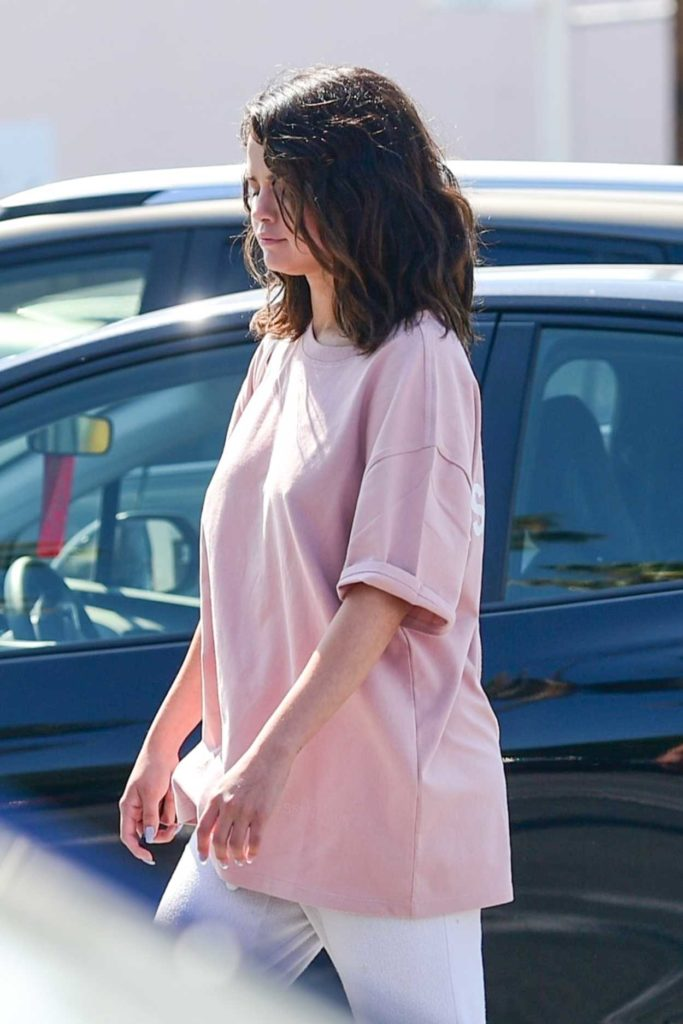 Selena Gomez in a Pink Tee