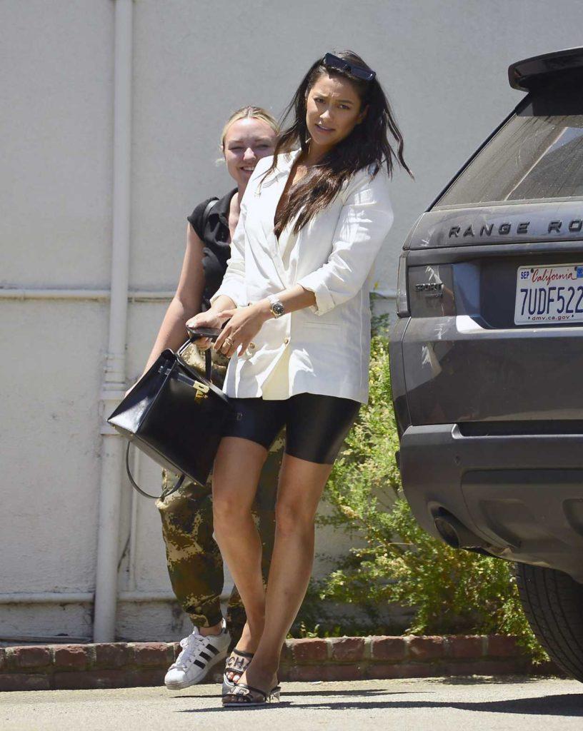 Shay Mitchell in a White Blazer