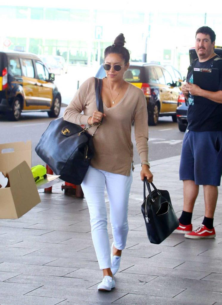 Shay Mitchell in a White Pants