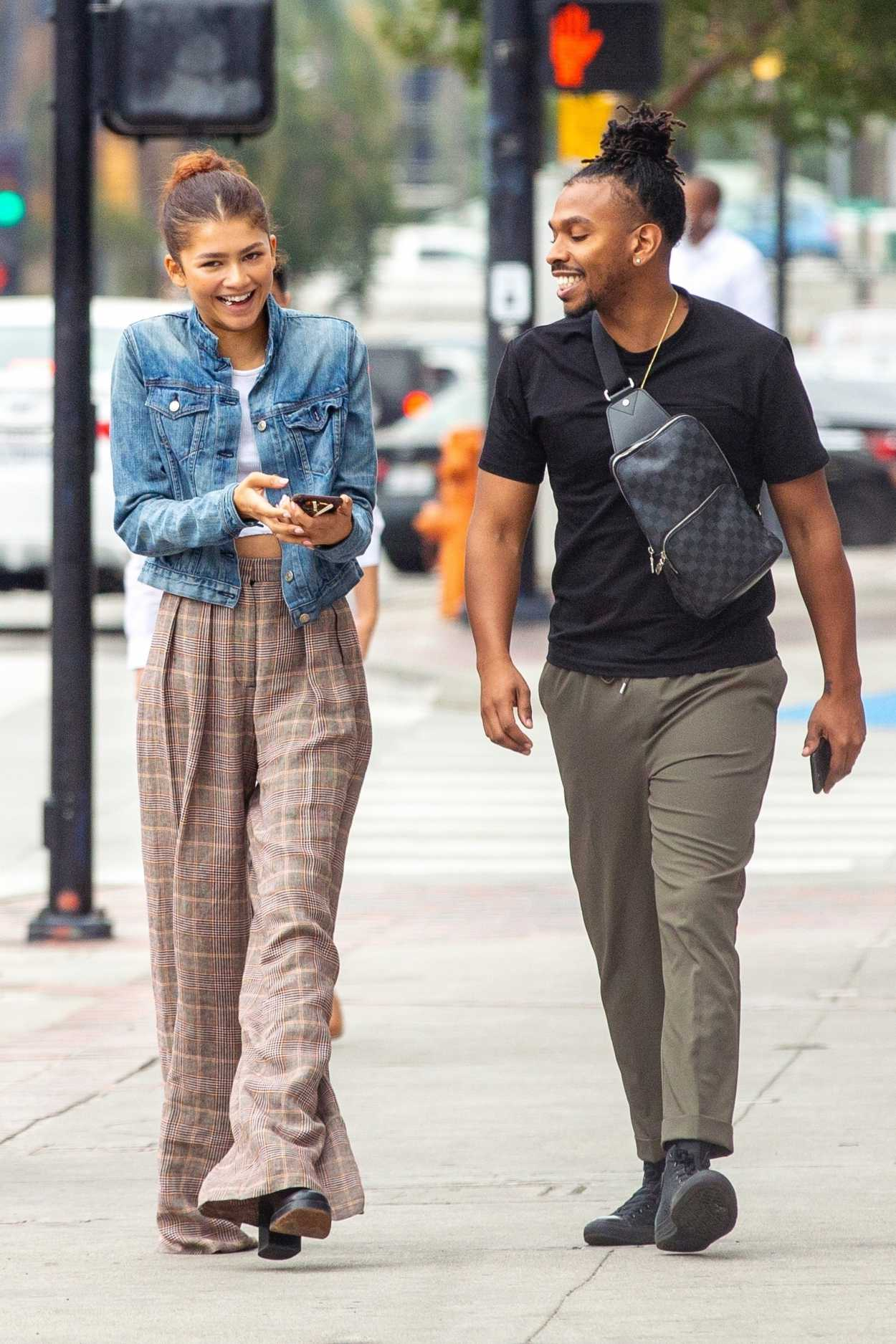 Zendaya Out with Her Brother Austin Leaves the Granville ...