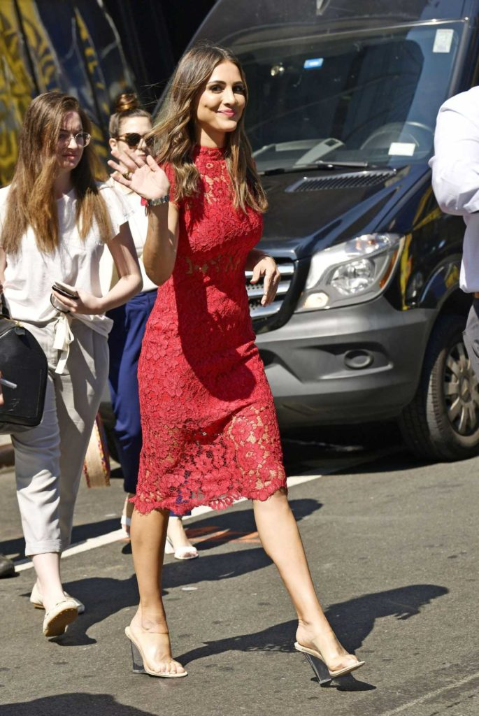 Andi Dorfman in a Red Dress