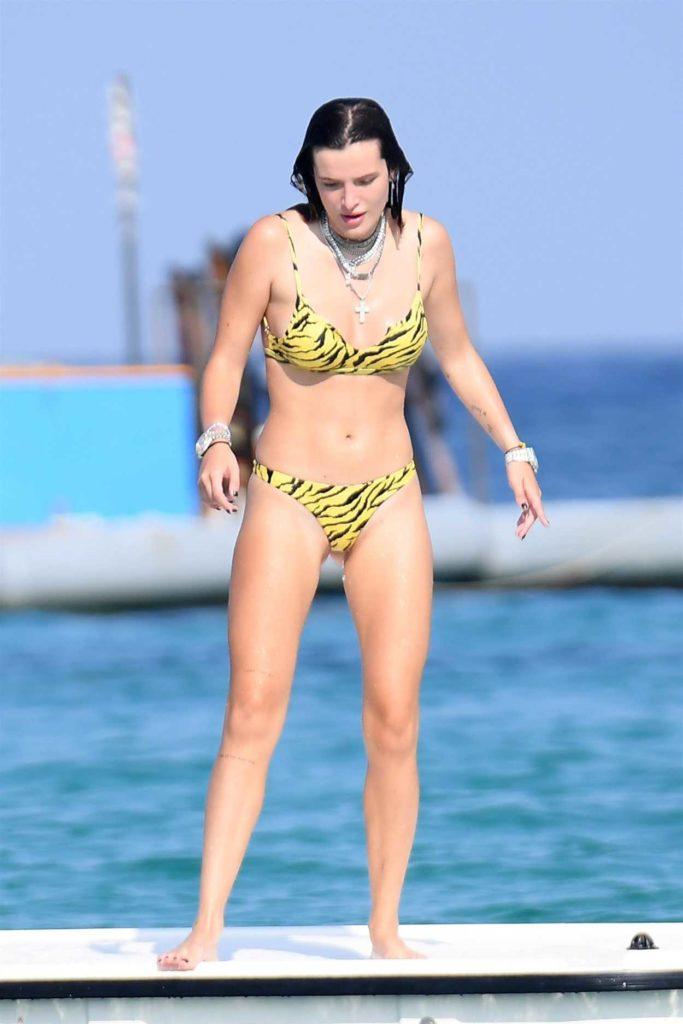 Bella Thorne in a Yellow Bikini