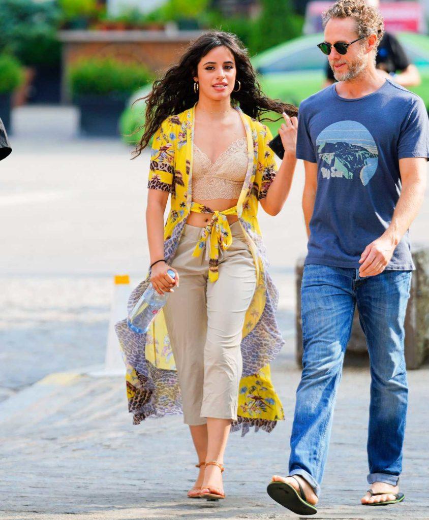 Camila Cabello in a Yellow Cardigan