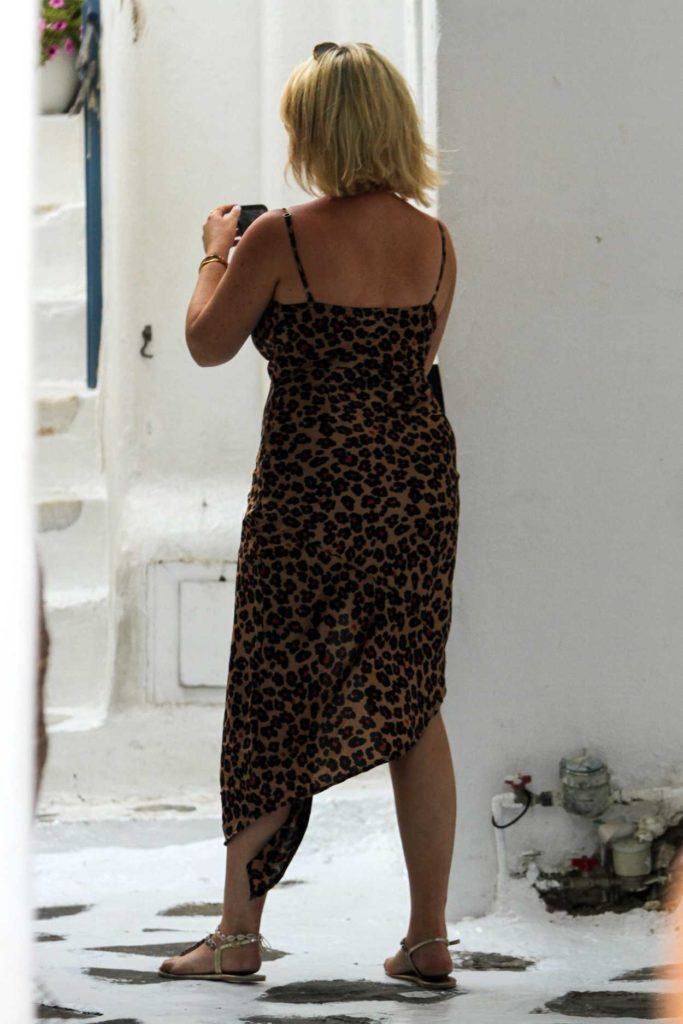 Emily Atack in a Floral Print Dress