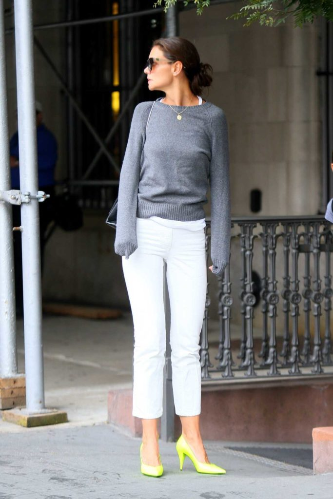 Katie Holmes in a White Pants