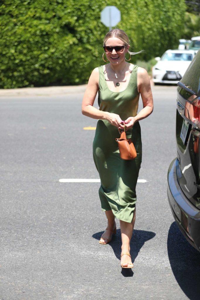 Kristen Bell in a Green Dress