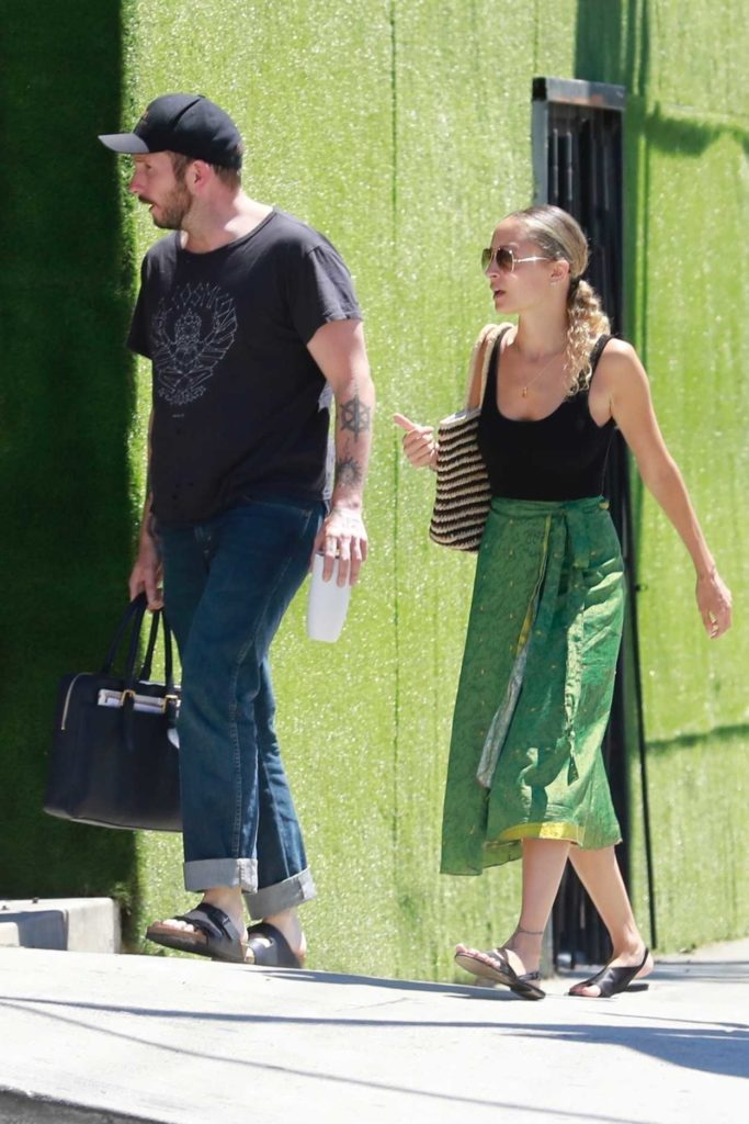 Nicole Richie in a Green Skirt