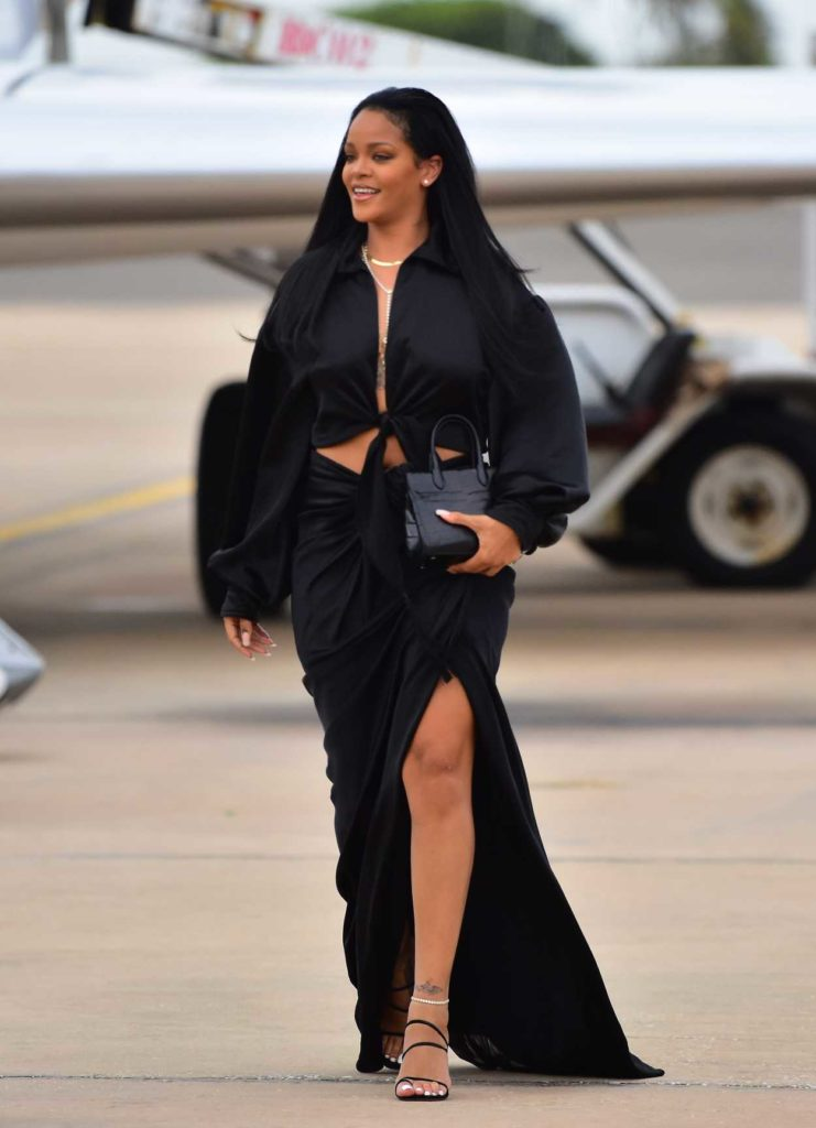 Rihanna in a Black Suit