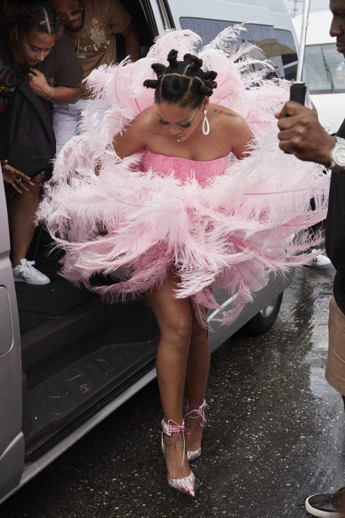 Rihanna in a Pink Dress