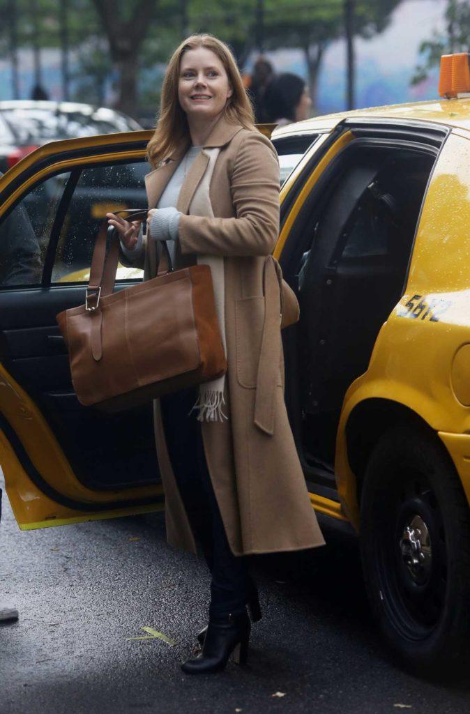 Amy Adams in a Beige Coat