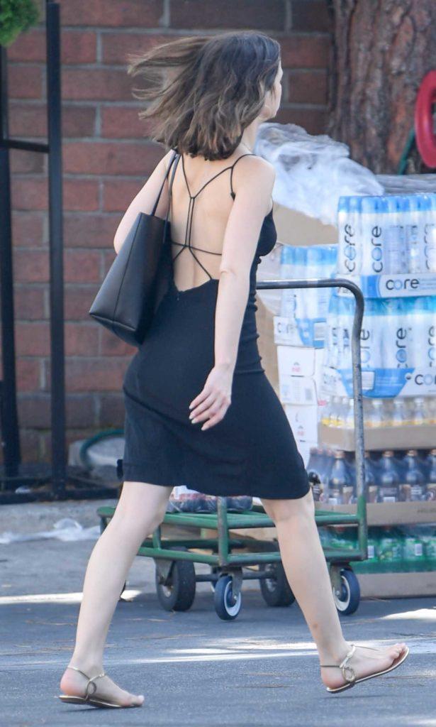 Ana De Armas In A Black Dress Attends The Bristol Farms In
