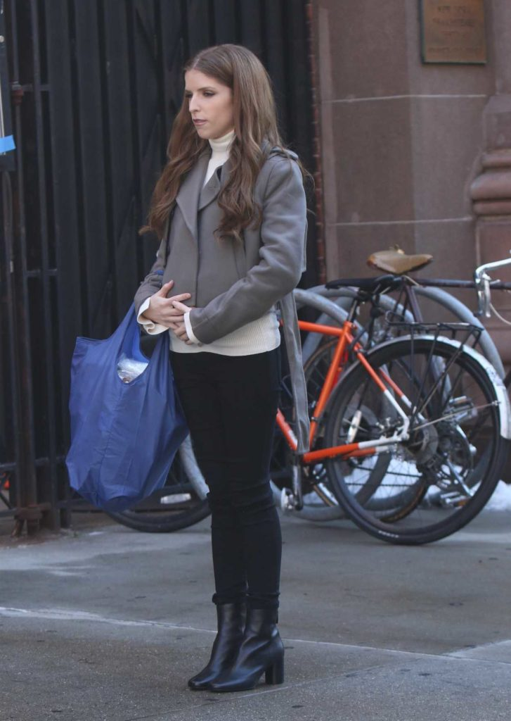 Anna Kendrick in a Gray Jacket