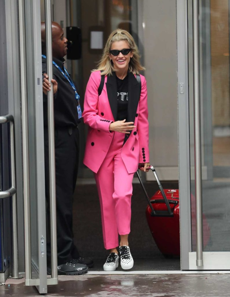 Ashley Roberts in a Pink Suit