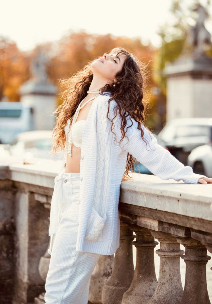 Camila Cabello in a White Bra