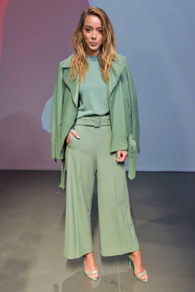 Chloe Bennet in a Green Suit