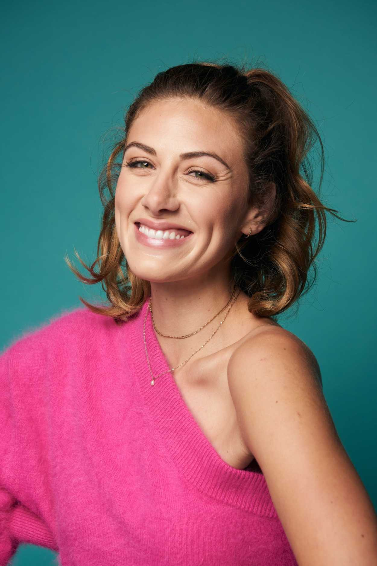Perry Mattfeld in a Pink Sweater Portraits During 2019