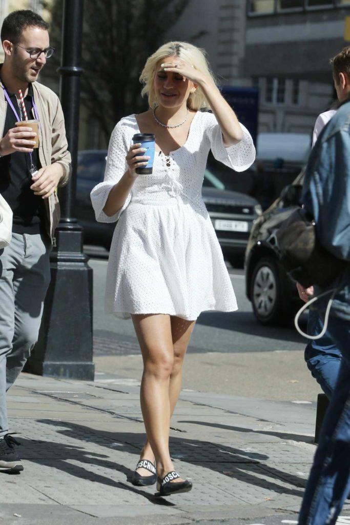 Pixie Lott in a White Dress