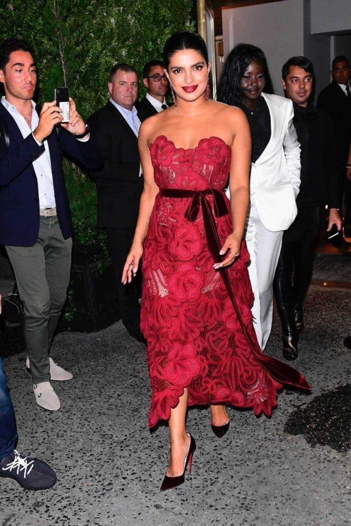 Priyanka Chopra in a Red Dress