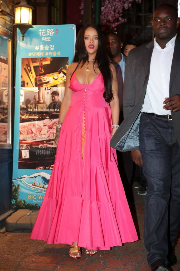 Rihanna in a Pink Dress
