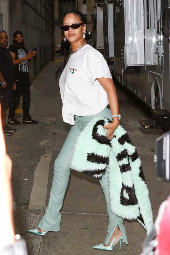 Rihanna in a White Tee