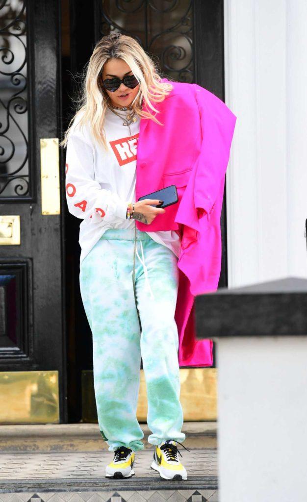 Rita Ora in a White Tee