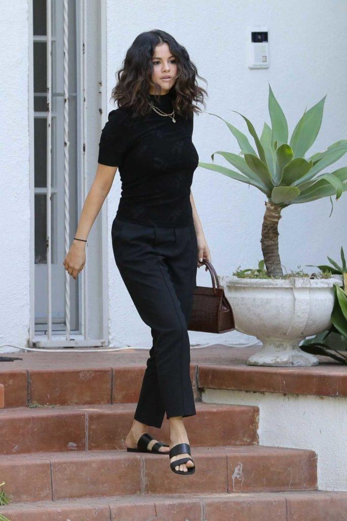 Selena Gomez in a Black Pants