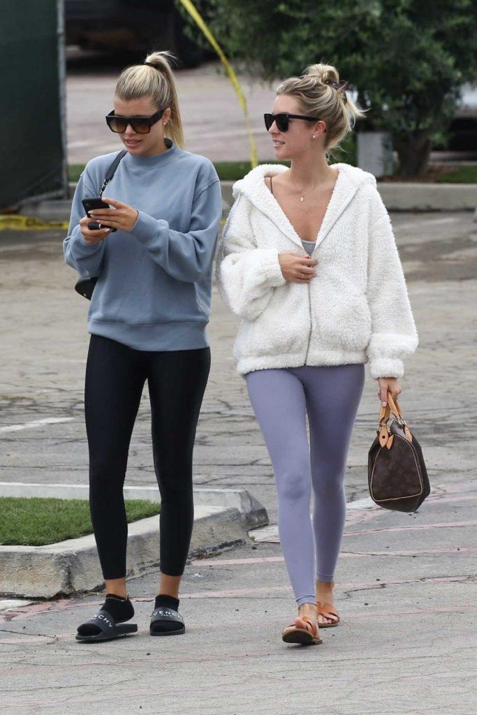 Sofia Richie in a Gray Sweatshirt