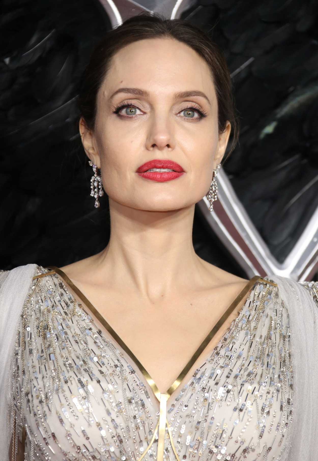Angelina Jolie Attends the Maleficent: Mistress of Evil ...