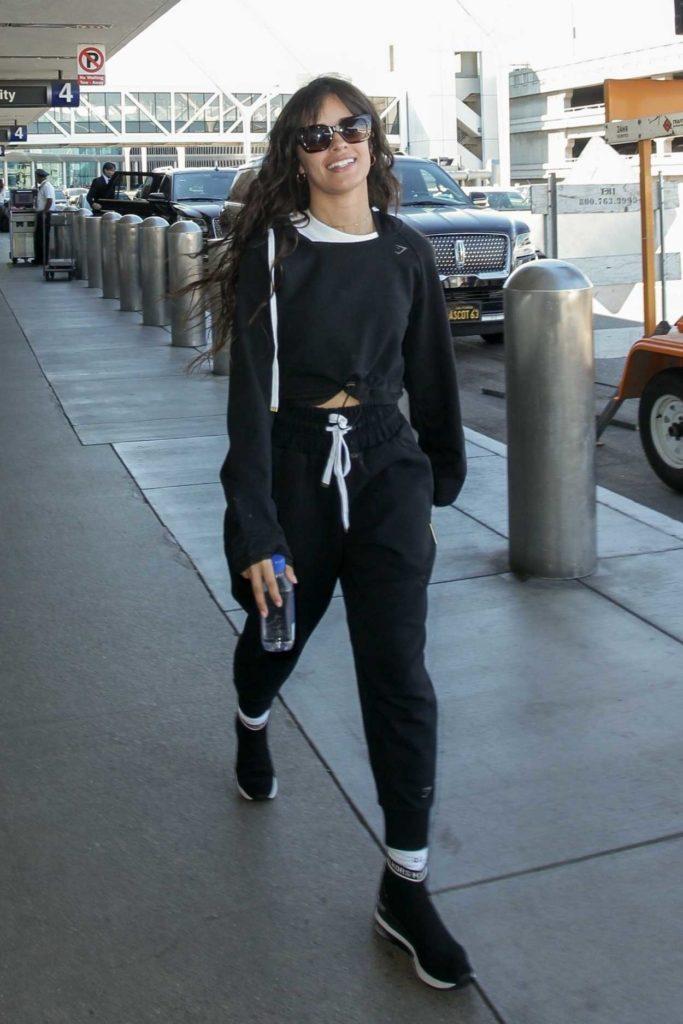 Camila Cabello in a Black Sweatsuit
