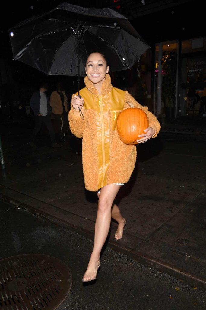 Cara Santana in a Yellow Jacket