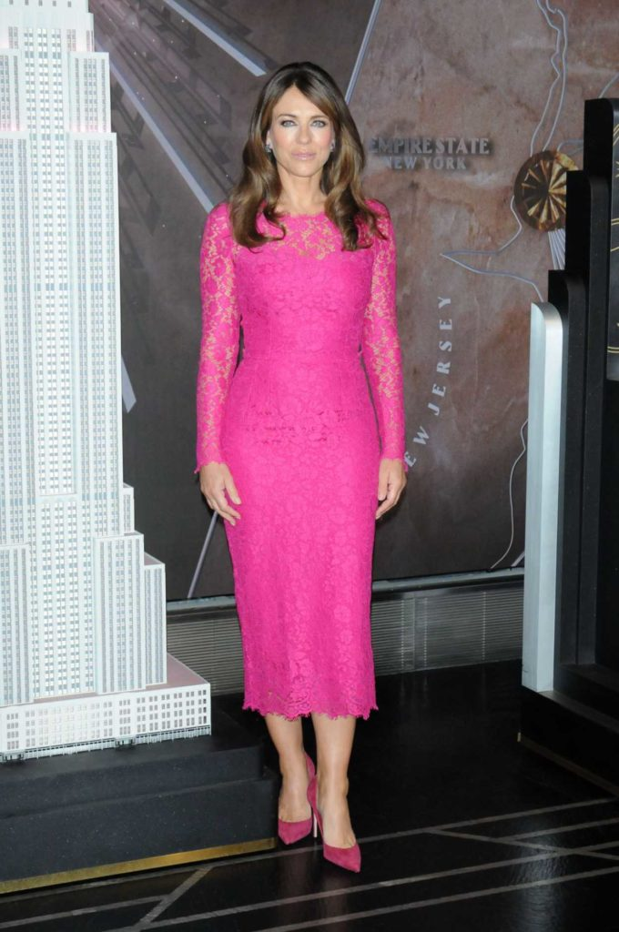 Elizabeth Hurley in a Pink Dress