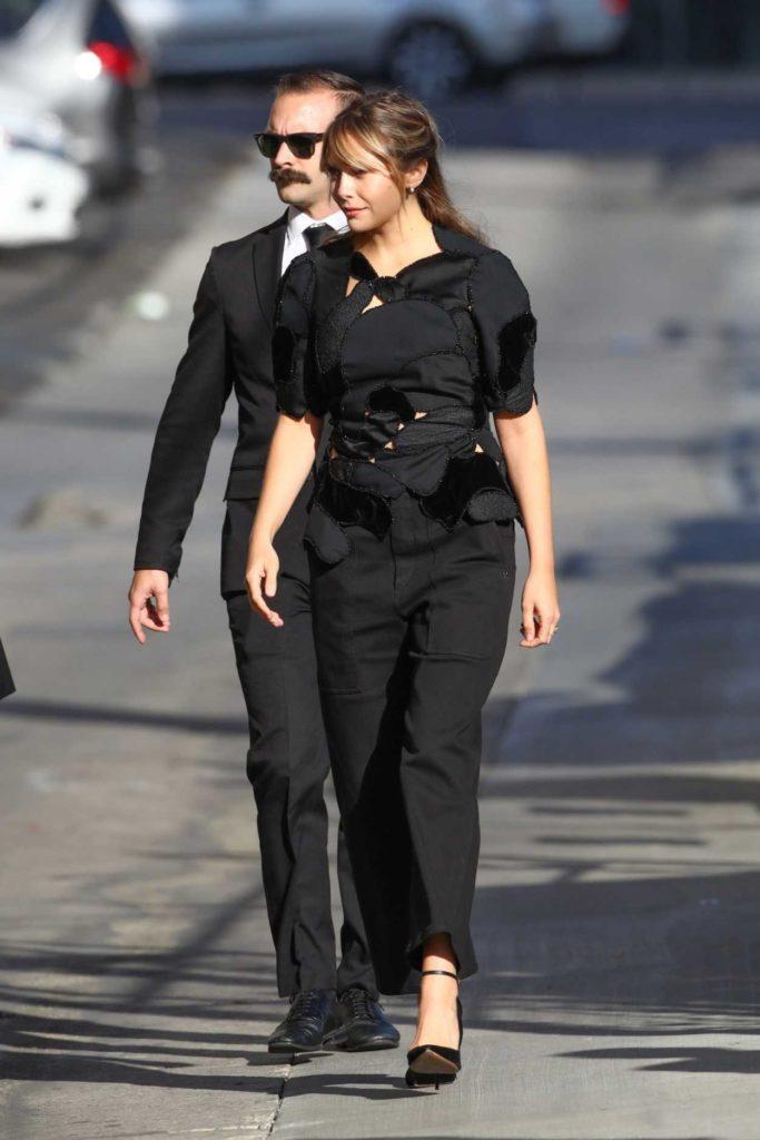 Elizabeth Olsen in a Black Blouse