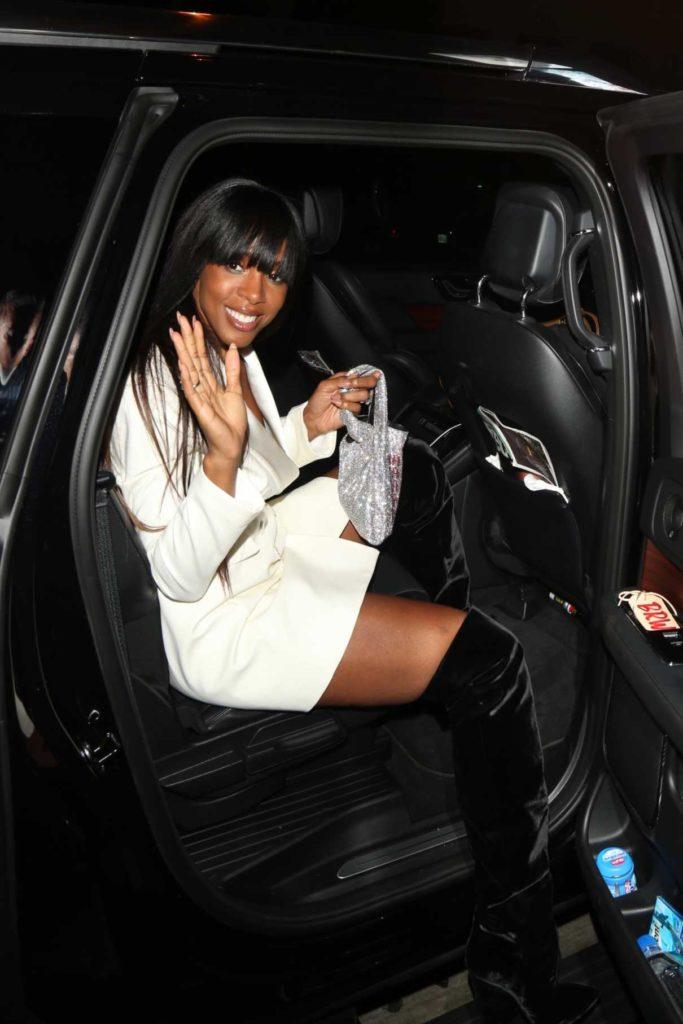 Kelly Rowland in a White Blazer
