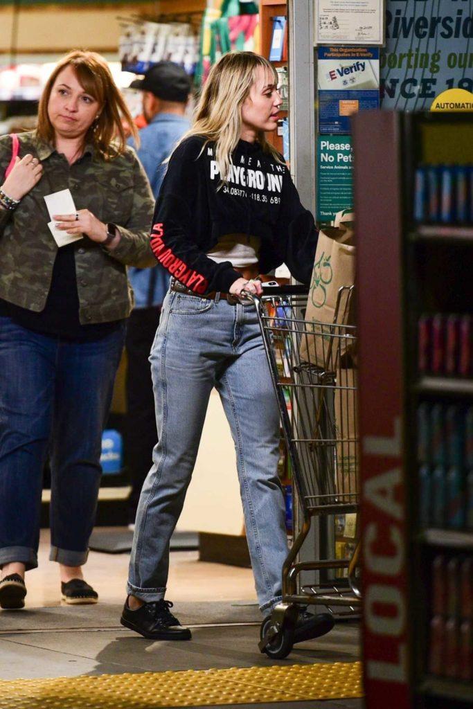 Miley Cyrus in a Black Sweatshirt