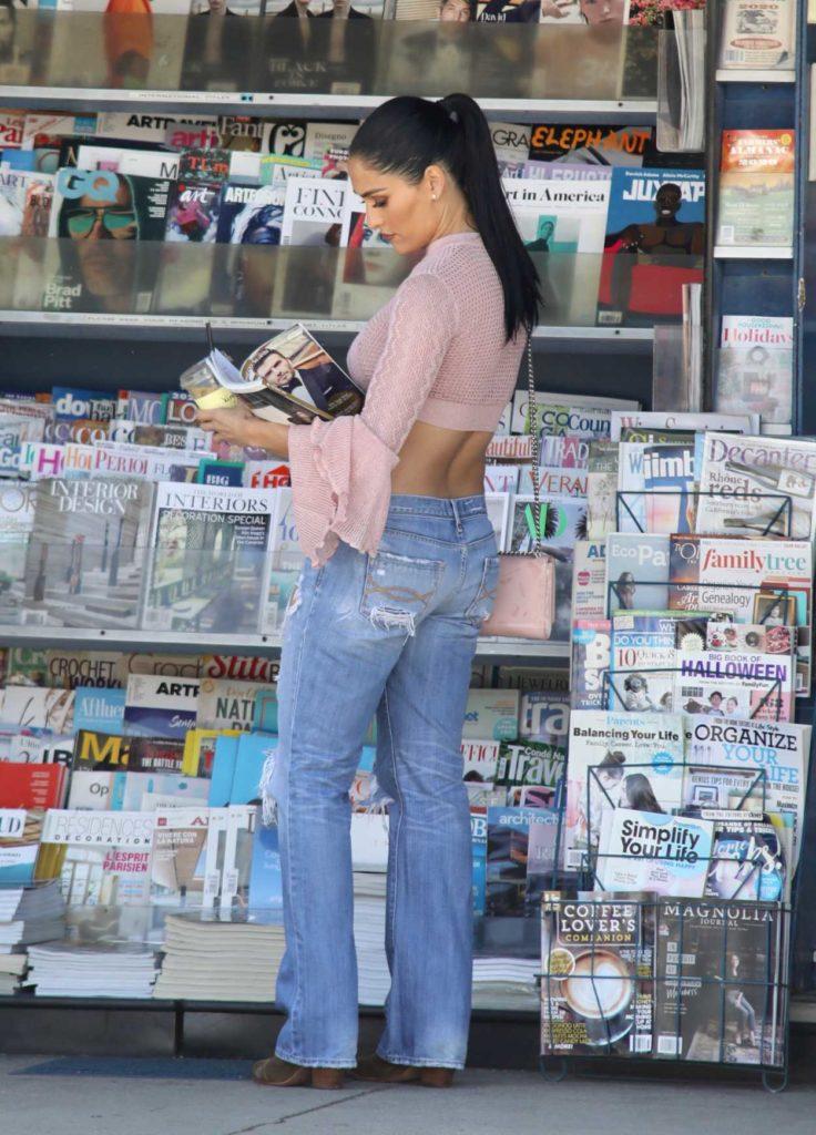 Nikki Bella in a Blue Ripped Jeans