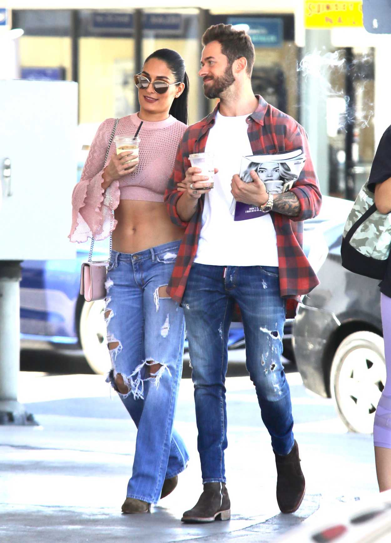 Nikki Bella in a Blue Ripped Jeans Was Seen Out in LA 09 ...