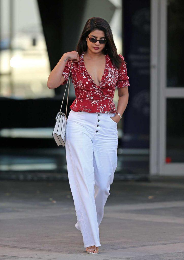 Priyanka Chopra in a White Pants