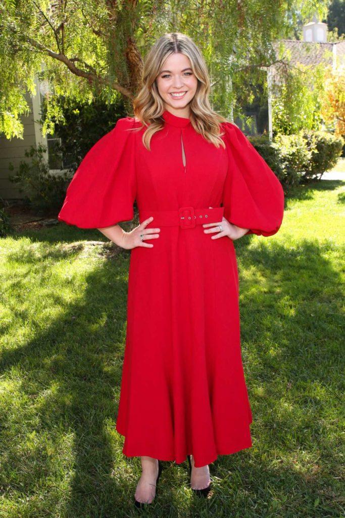 Sasha Pieterse in a Red Dress