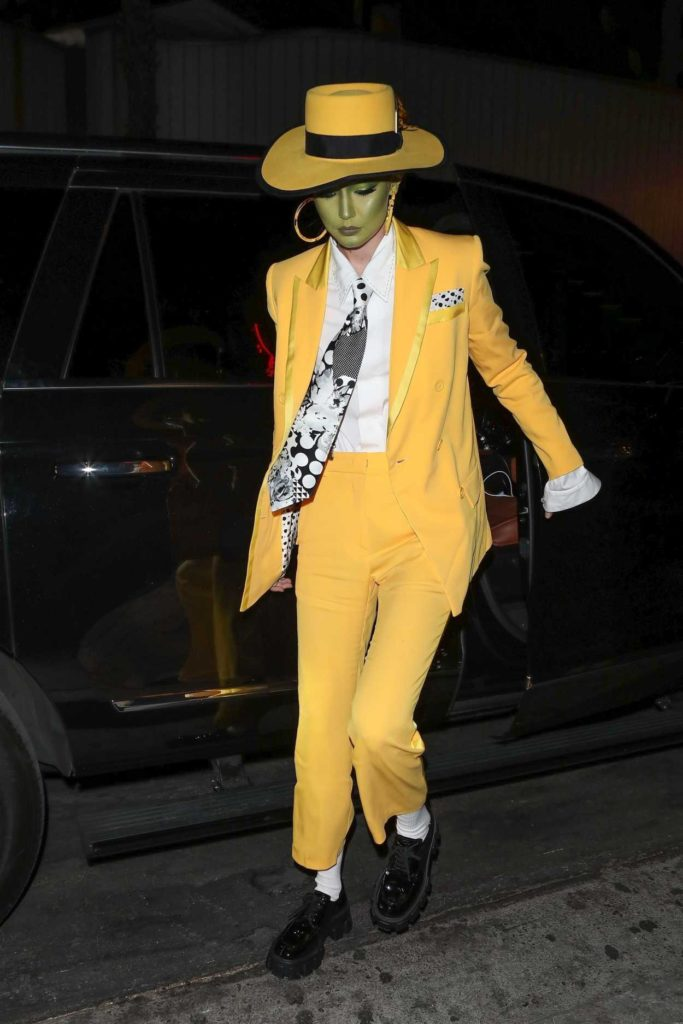 Gigi Hadid in a Yellow Suit