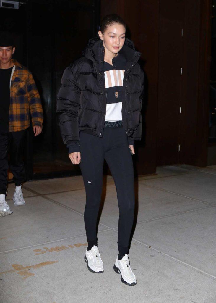 Gigi Hadid in a Black Jacket