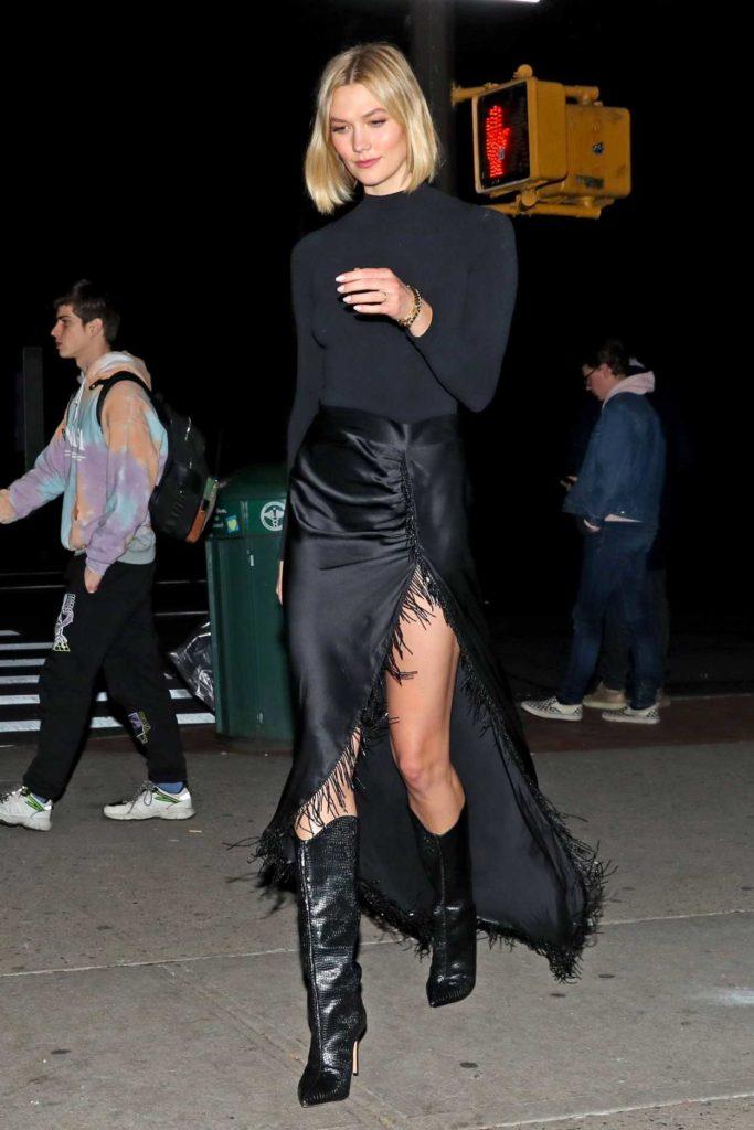 Karlie Kloss in a Black Skirt