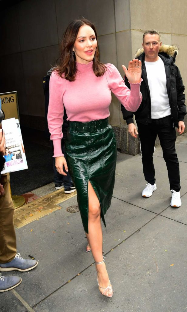 Katharine McPhee in a Pink Blouse