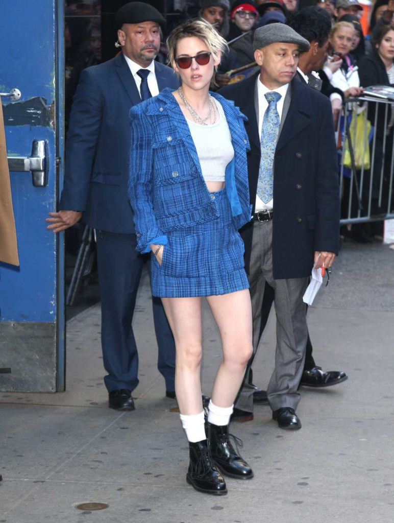 Kristen Stewart in a Blue Suit