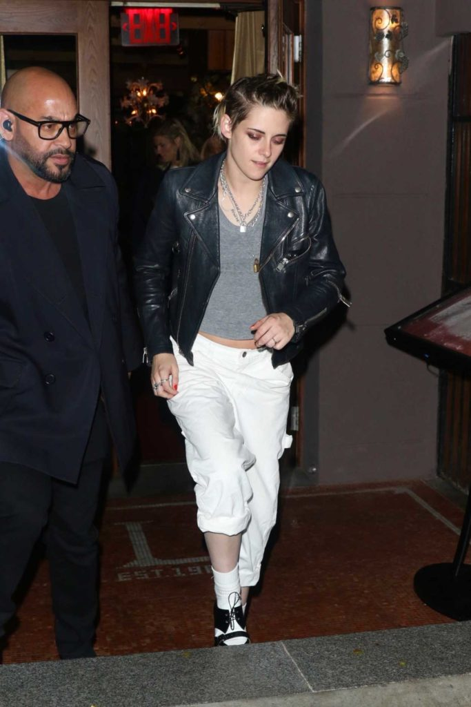 Kristen Stewart in a White Pants