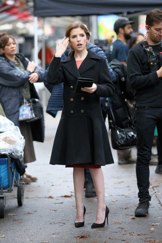 Anna Kendrick in a Black Coat