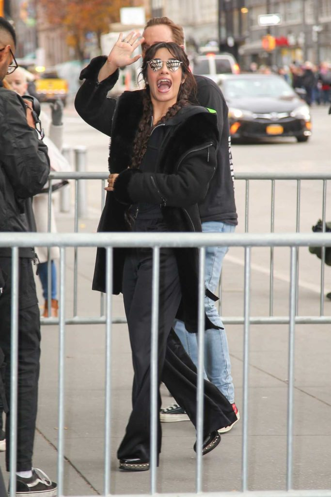Camila Cabello in a Black Coat