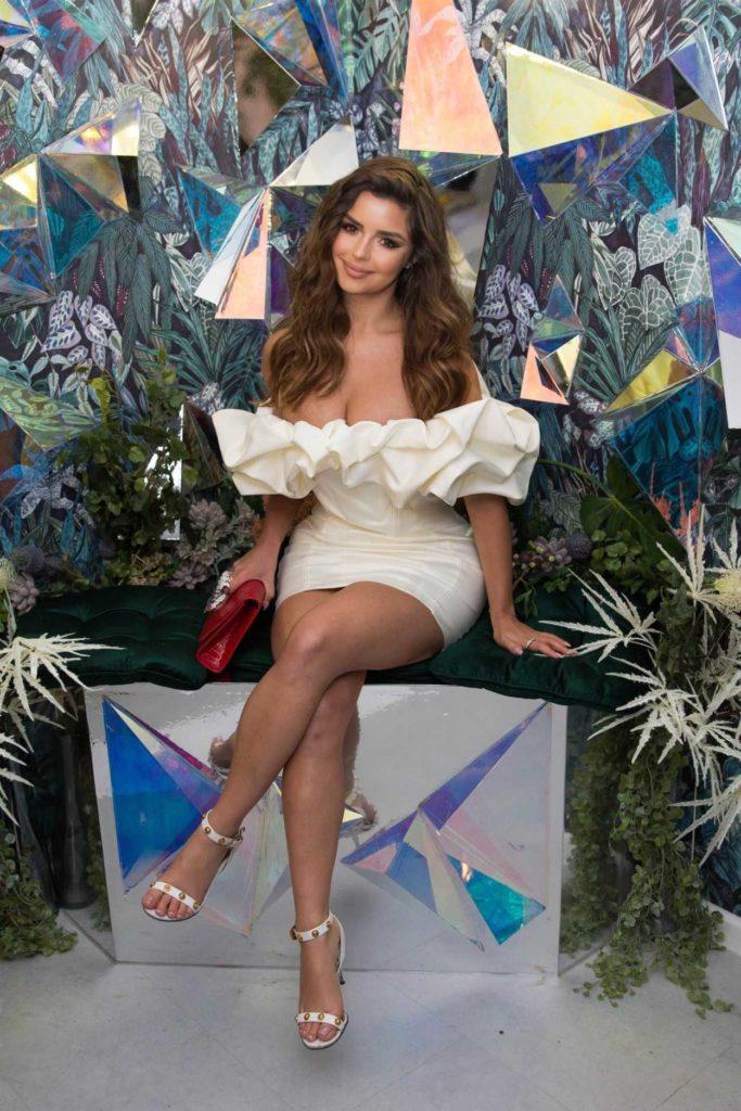 Demi Rose in a White Dress
