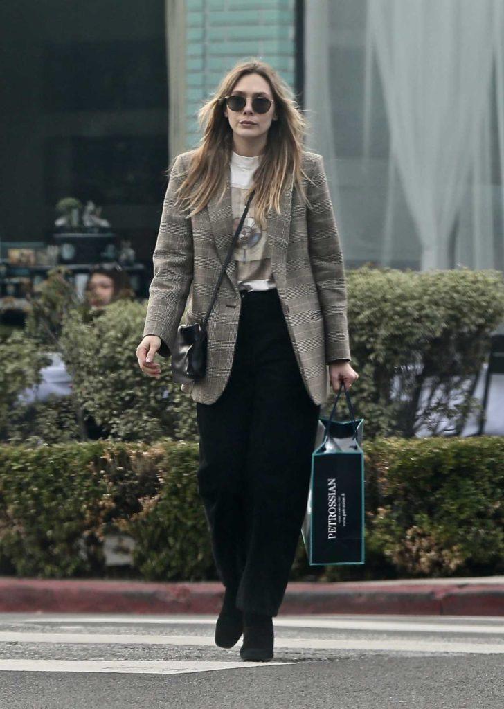 Elizabeth Olsen in a Black Pants